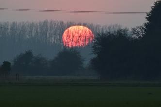 Sun at dusk